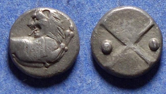 Ancient Coins - Thrace, Chersonesos Circa 360 BC, Silver Hemidrachm