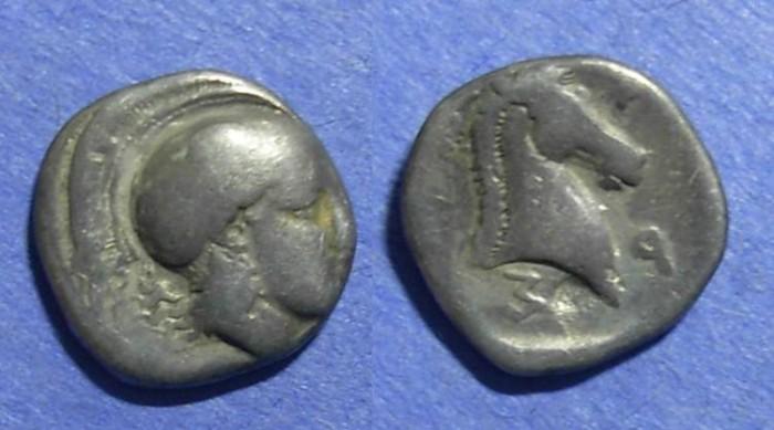 Ancient Coins - Pharsalos, Thessaly 450-400 BC, Hemidrachm
