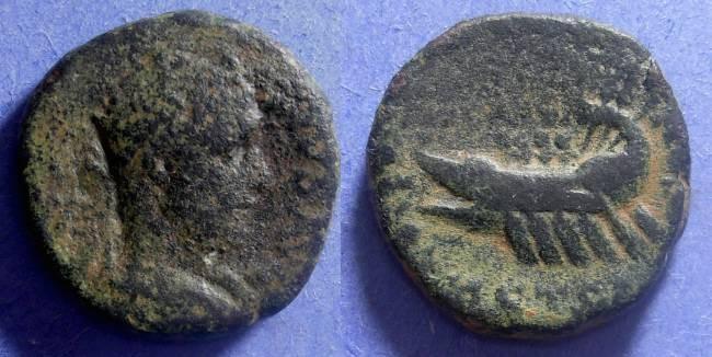 Ancient Coins - Caesarea Maritima- Samaria, Trajan Decius 249-251 AD, AE25
