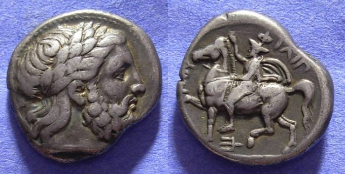 Ancient Coins - Macedonian Kingdom - Philip II 359-336BC Tetradrachm - Lifetime issue