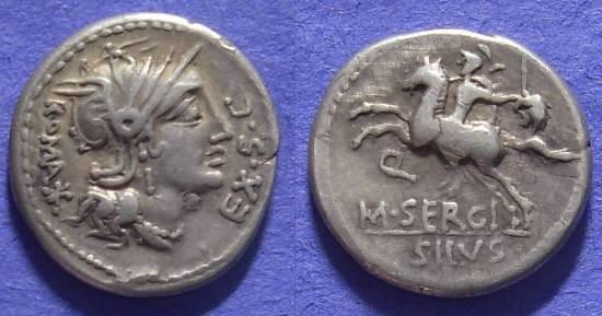 Ancient Coins - Roman Republic – Sergia 1 Denarius – 116BC