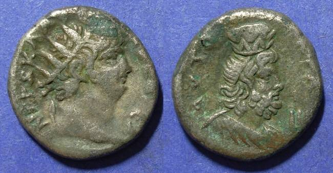 Ancient Coins - Roman Egypt, Nero 54-68 AD, Tetradrachm