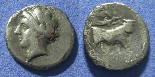 Ancient Coins - Campania, Neapolis 275-250 BC, Drachm