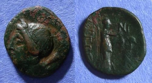 Ancient Coins - Tegea, Arkadia Circa 250 BC, Trichalkon AE15