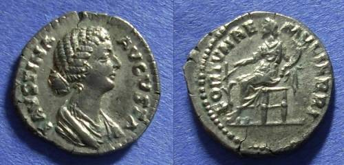 "Ancient Coins - Roman Empire Faustina Jr (wife of M Aurelius) d. 175 Denarius ""Fortune of Women"" rare"