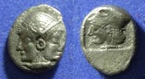 Ancient Coins - Mysia, Lampsakos Crica 300 BC, Trihemiobol