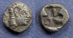 Ancient Coins - Ionia, Kolophon 530-500 BC, Obol