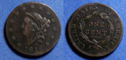 Us Coins - United States,  1816,  Coronet Head Cent