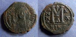 Ancient Coins - Byzantine Empire, Justinian 527-565, Follis