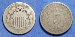 Us Coins - United States,  1876,  Shield Nickel