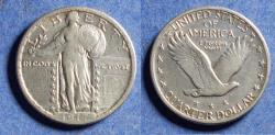 Us Coins - United States,  1917-D, Silver Standing Liberty Quarter