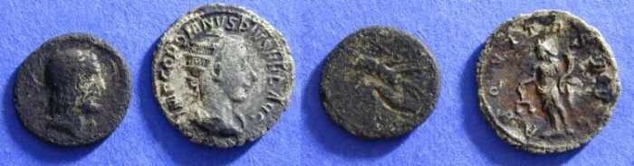 Ancient Coins - Two Fourre roman coins