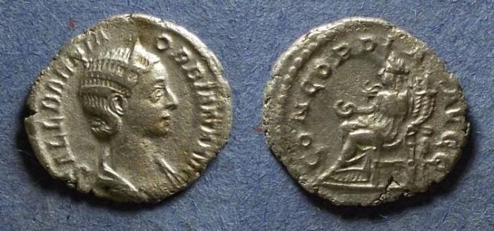 Ancient Coins - Roman Empire, Orbiana 225-6, Denarius