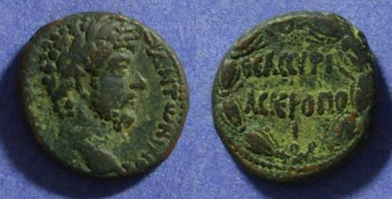 Ancient Coins - Hieropolis Syria –AE22 – Marcus Aurelius 161-180AD