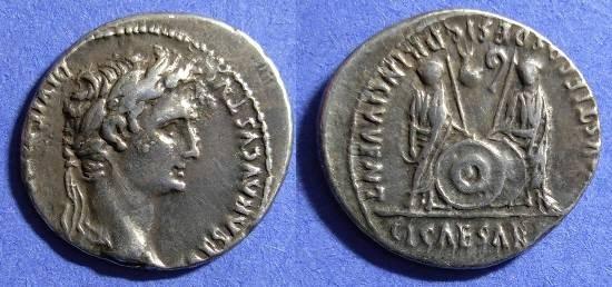 Ancient Coins - Augustus: 27BC-14AD - Denarius