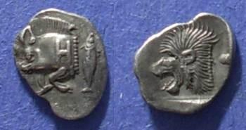 Ancient Coins - Kyzicus, Mysia 480-450 BC.39g, Hemiobol
