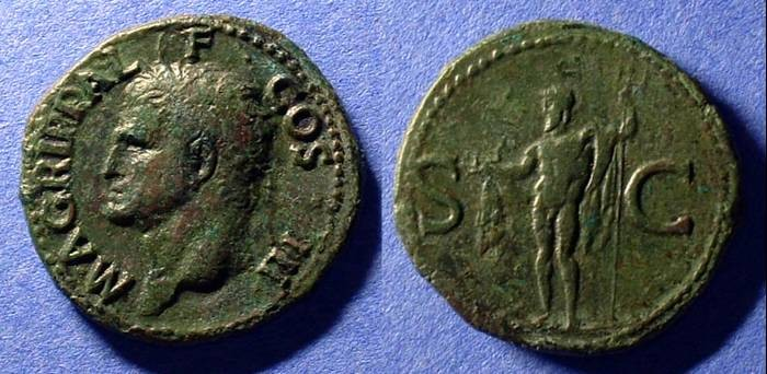 Ancient Coins - Agrippa As struck under Tiberius or Caligula