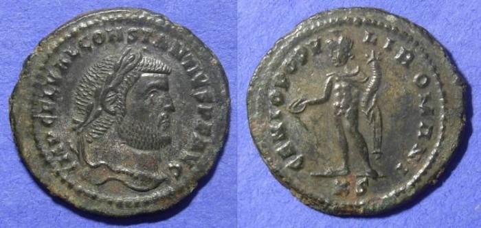 Ancient Coins - Constantius I as Augustus 305-6AD – Follis