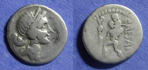Ancient Coins - Roman Imperatorial Julius Caesar d. 44 BC Denarius