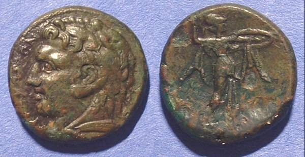 Ancient Coins - Syracuse Sicily AE23 Pyrrhus 278-6 BC