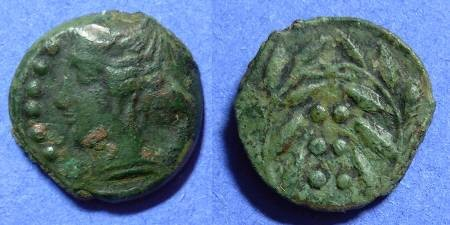 Ancient Coins - Himera Sicily - Hemilitron 420-407BC