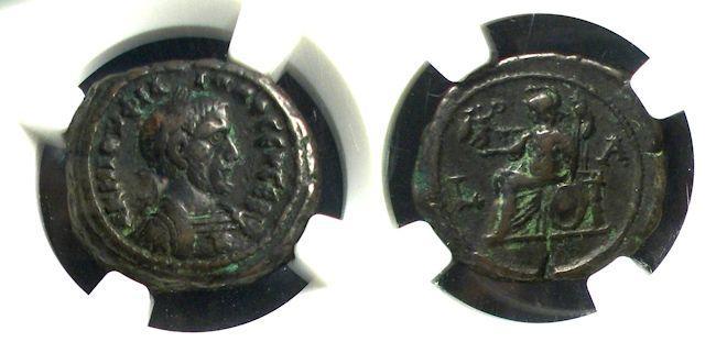 Ancient Coins - Roman Egypt, Philip 244-9, NGC Tetradrachm
