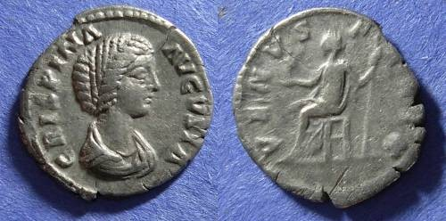 Ancient Coins - Roman Empire, Crispina (Wife of Commodus) d. 182, Denarius