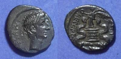 Ancient Coins - Roman Imperatorial, Octavian / Augustus Struck 28 BC, Quinarius