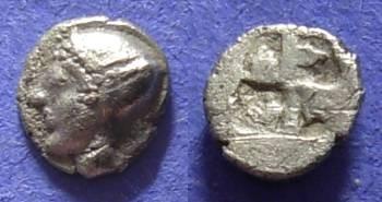 Ancient Coins - Phokaea Ionia Circa 500 BC – Trihemiobol