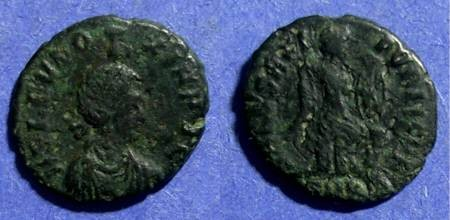 Ancient Coins - Roman Empire, Eudoxia (Wife of Arcadius) 400-404, AE3