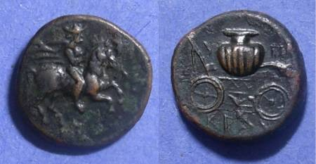 Ancient Coins - Krannon, Thessaly 400-344 BC, AE18