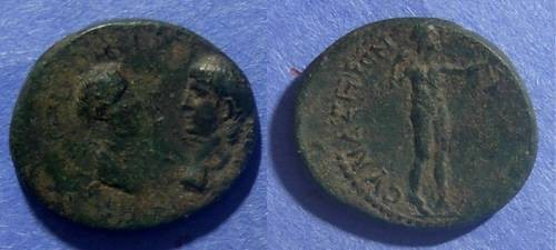 Ancient Coins - Synaus, Phrygia, Nero & Agrippina 54-68 AD, AE18 x 20