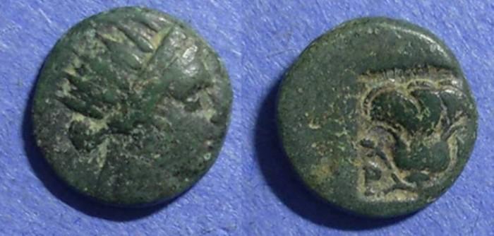 Ancient Coins - Rhodes,  Circa 150 BC, AE12