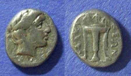 Ancient Coins - Chalkidian League, Macedonia 432-348 BC, Diobol