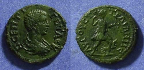 Ancient Coins - Augusta Traiana, Thrace AE17 – Geta 198-208