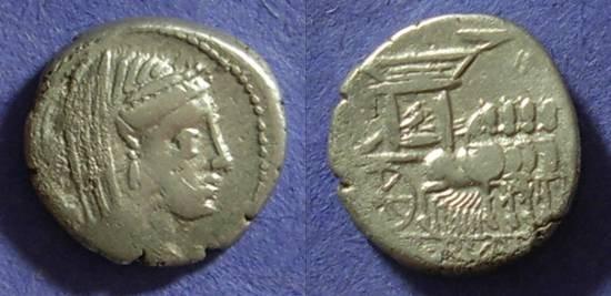 Ancient Coins - Roman Republic - L Rubrius Dossenus Denarius 87BC