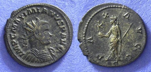 Ancient Coins - Maximianus 286-305AD Antoninianus - Mostly silvered