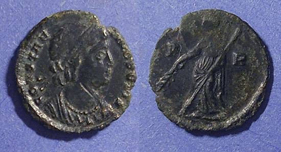 Ancient Coins - Roman Empire, Constantinople commemorative Circa 348, AE3/4