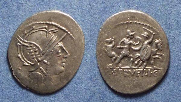 Ancient Coins - Roman Republic, M Servilius C f 100 BC, Denarius