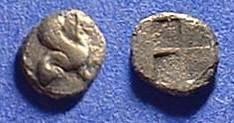 Ancient Coins - Teos Ionia Tetartemorion Circa 470 BC