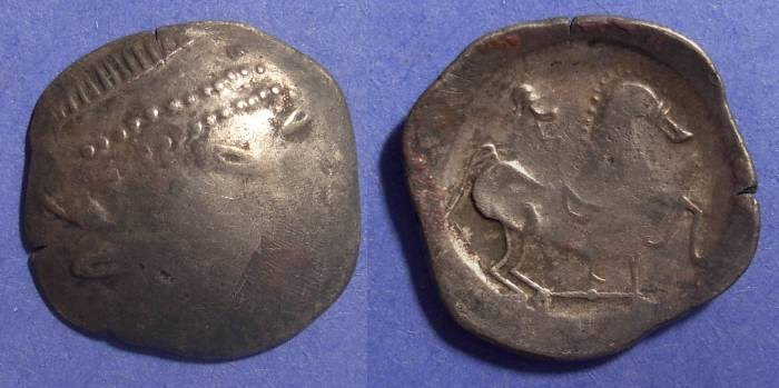 Ancient Coins - Danube Celts, Imitating Philip II of Macedonia Circa 150 BC, Tetradrachm