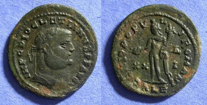 Ancient Coins - Diocletian 284-305 – Follis