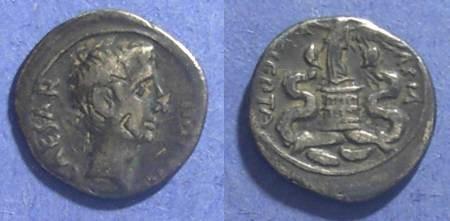 Ancient Coins - Roman Imperatorial, Octavian Struck 30-27 BC, Quinarius