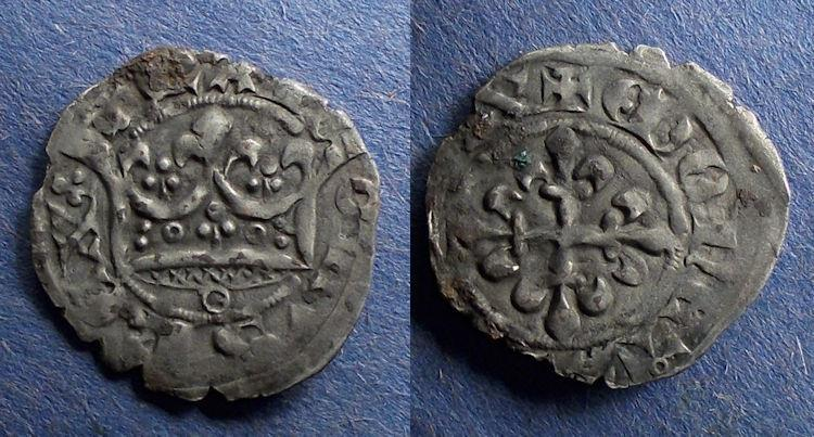 World Coins - France, Charles IV 1322-1328, Double Parisis