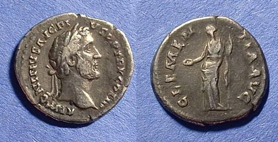 Ancient Coins - Antoninus Pius 138-161 Denarius