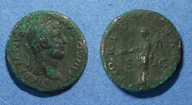 Ancient Coins - Roman Empire, Hadrian 117-138, As