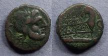 Ancient Coins - Roman Republic, L Trebanius 135 BC, Semis