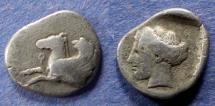 Ancient Coins - Corinth,  350-300 BC, Hemidrachm