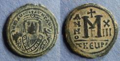Ancient Coins - Byzantine Emipre, Maurice Tiberius 582-602, Follis