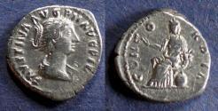 Ancient Coins - Roman Empire, Faustina Jr 146-175, Denarius